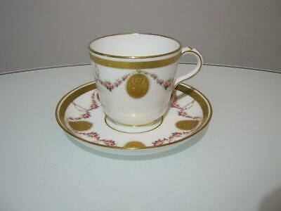 STUNNING ANTIQUE 19th CENTURY HAND PAINTED MINTON PORCELAIN CUP & SAUCER DUO