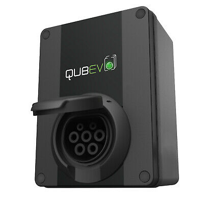 QUBEV - EV Charging Unit | Type 2 Socket | 32 Amp/7.2 kW | IP65 | 18th Edition |
