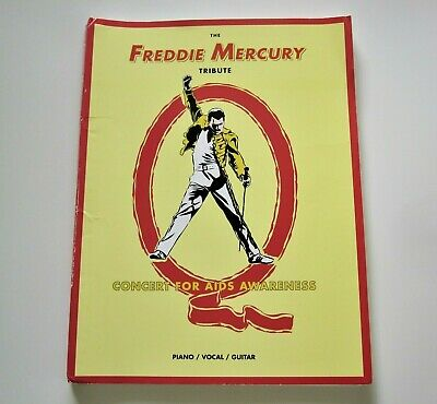Freddie Mercury : Official Tribute Concert Sheet Music Song Book 1994 Queen