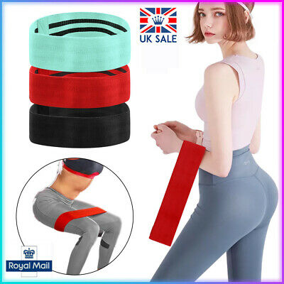 Resistance Bands Booty Fabric Glutes Hip Circle Legs Squat Yoga Fitness Non Slip