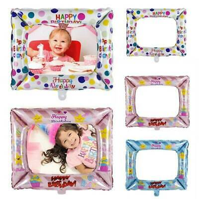 3Pcs/Set Happy Birthday Foil Balloons Photo Frame Photo Props Party Decoration