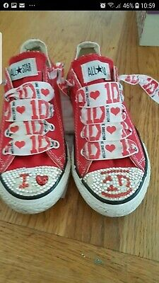 Little Girls One Direction Converse All Stars size UK 13