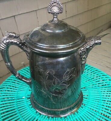Vintage New Amsterdam Silver Plate 632 Water Pitcher  RARE