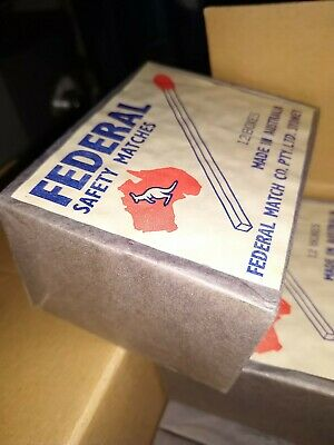 Vintage FEDERAL Safety Matches,antiques,collectables,old matches,vintage matches
