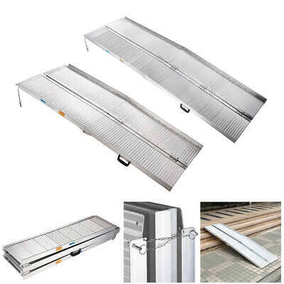 3ft 4ft 6ft Portable Wheelchair Ramps Mobility Folding Loading Access Aluminium