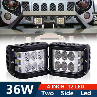 36W LED Light Work Flood Combo Side Shooter Driving'For Off Road SUV Tractor ATV