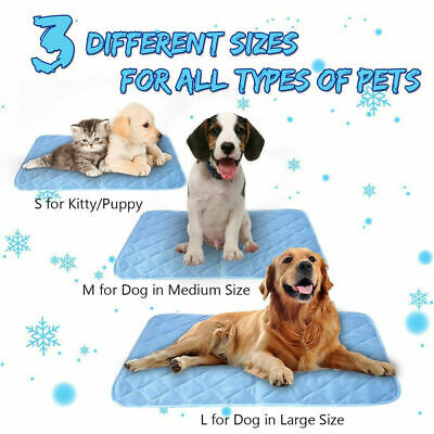 Self Cooling Gel Mat Dog Cat Pet Self Cool Pillow Hot Weather Large Bed Pads CA