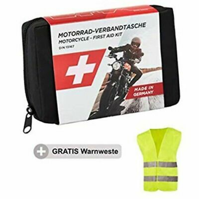 Golab Motorcycle First Aid Kit With Hi Vis Tabard Mandatory In Some Countries