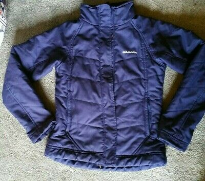 Girls Diadora Blue Padded Fitted Cropped Jacket Age 9-10