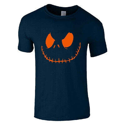 Jack Smiley Scary Pumpkin Halloween T Shirt Smiley Top For Men Funny Costume Tee