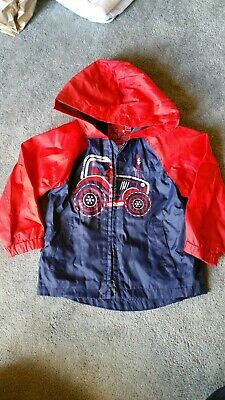 Boys Blue Red Tractor Raincoat Age 1.5 - 2 Yrs