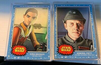 2019 Topps Star Wars Living Set Week 10 Bundle-Ezra Bridger+Admiral Piett #19-20