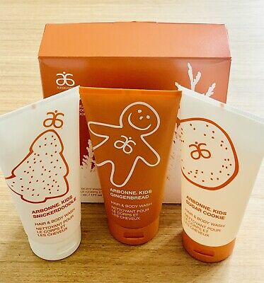 Holiday Edition! Arbonne Kids Cookie Hair & Body Wash Trio