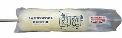 Lambswool Fluffy Dusters 24'' Cleaning 100% Natural Fibre Blinds Plastic Handle
