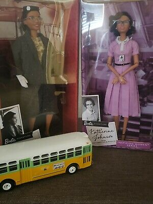 Rosa Parks Barbie & Katherine Inspiring Women Collection 2019 With Bus Included.
