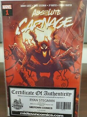 Absolute Carnage #1 NM+ Signed by artist Ryan Stegman.