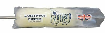 Lambswool Fluffy Dusters 48'' Cleaning 100% Natural Fibre Blinds Plastic Handle