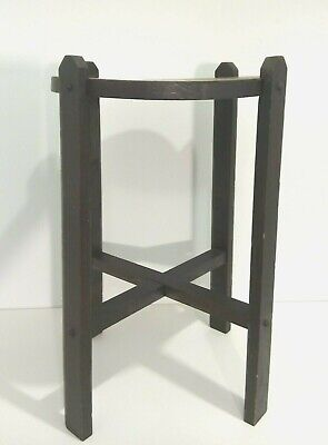 Antique Vintage Arts and Crafts Mission Solid Oak Plant Stand Side End Table
