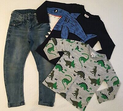 SEED HERITAGE Boys Size 4-5 Set- Includes Jeans & Long Sleeved Shirts- As New
