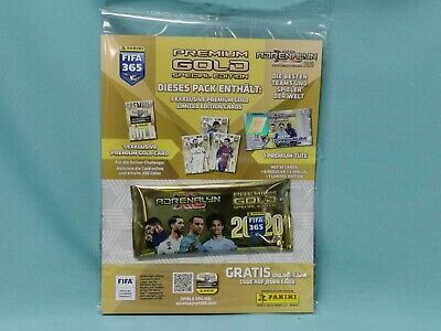 Panini Adrenalyn XL FIFA 365 2020 Premium Gold  1 x Booster 4 x Limited Edition