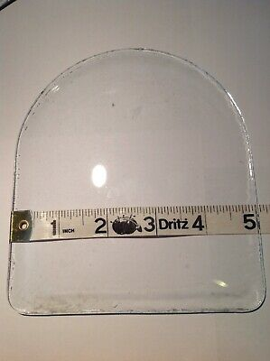 """1- VTG Replacement Domed / Convex Glass 5"""" X 5 3/4"""" Frame Alarm Clock Westclox"""