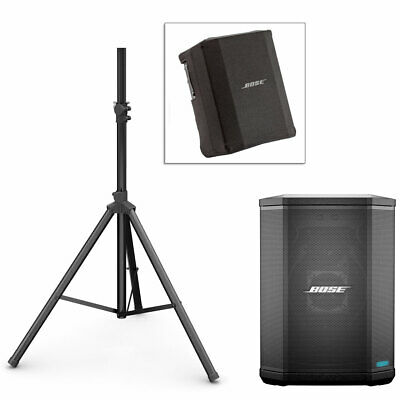 Bose S1 Pro PA System w/ Speaker Stand & Play-Through Cover - Bose Nue Black