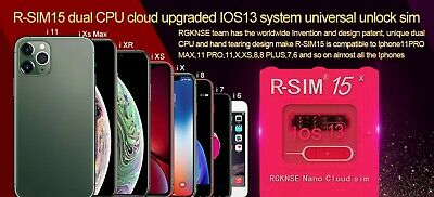 RSIM 14 V18 12+ R-SIM Nano Unlock Card for iPhone XS Max/XR/X/8/7/6 iOS 12.4 Lot