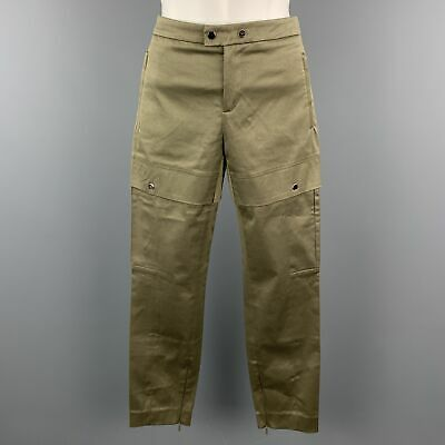 GUCCI Size 2 Olive Cotton / Elastane Snaps Cargo Cuff Zipper Casual Pants