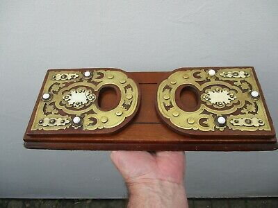 A Victorian Mahogany & Brass Adjustable Book Stand c1870