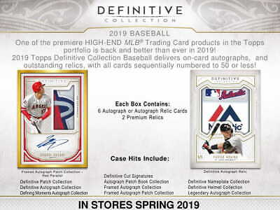 Live Break 2019 Topps Definitive 1 Box Random Player Break