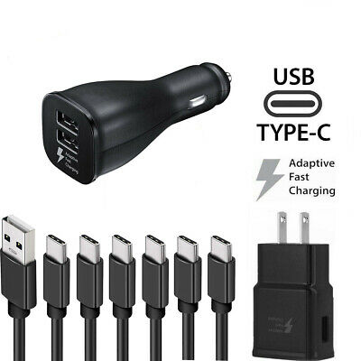 Wholesale Fast Car Wall Charger +OEM Type-C Samsung Galaxy Note 10 S8 S9 Plus