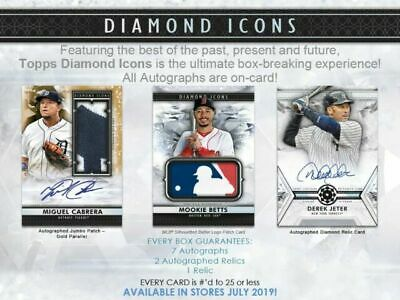 Live Break 2019 Topps Diamond Icons 1 Box Break Random Player