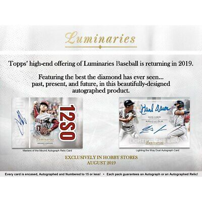 Live Break 2019 Topps Luminaries 1 Box Break Random Player