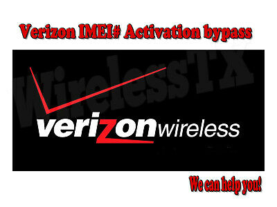 VERIZON Samsung Iphone Jetpack IMEI# bypass activation Failure repair