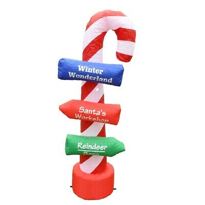 ALEKO Outdoor Yard Decor Inflatable LED Christmas Directional Sign 5 foot