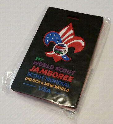 24th 2019 WORLD SCOUT JAMBOREE OFFICIAL WSJ USA LUGGAGE TAG