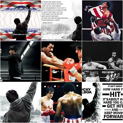 Rocky Balboa Movie Poster Prints Classic Film Sylvester Stallone Art Size A4