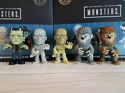 Funko Universal Monsters Mystery Minis LOT of 5 Frankenstein Wolfman Mummy + 2!
