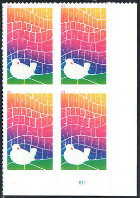 SC#5409 - 2019 Forever Woodstock 50th Anniversary Plate Block of 4 MNH P#B11 LR