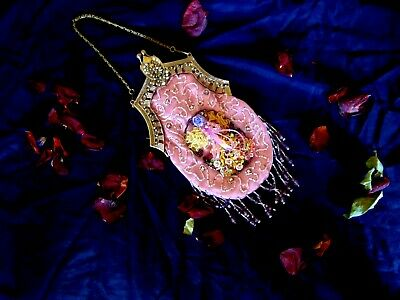 Beautiful French Vintage Beaded Bag Gatsby 1920s Inspired Art Deco Shabby Chic