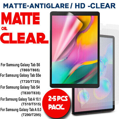 Matte/Clear Screen Protector for Samsung Galaxy Tab S6 10.5 A 8.0 10.1 2019 S5e