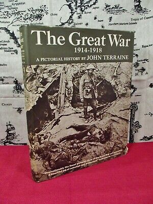 The Great War 1914-1918 WWI A Pictorial History by John Terraine Vtg 1964 Book