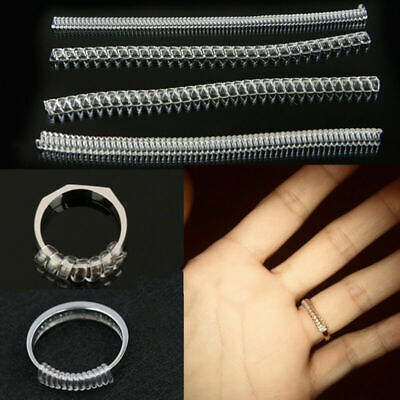 12Pc/set Ring Size Adjuster Loose Rings Jewelry Guard Spacer Sizer Fitter Kit AU