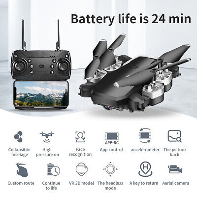 WIFI Drone Selfie FPV GPS With 1080P HD Camera Foldable RC Aircraft Quadcopter O