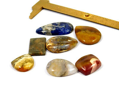 121 Cts. 100% Natural Lot Of Mix Stone Loose Cabochon Gemstone NG21146