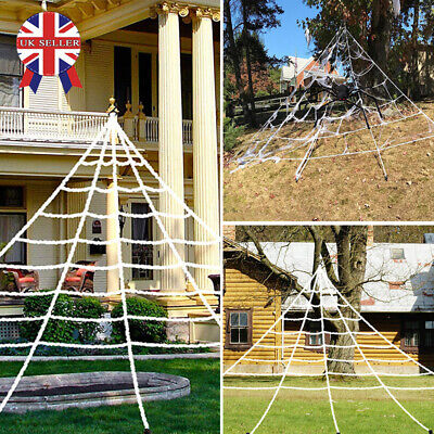 Halloween Decoration Giant Spider & Web Party Props Decor Outdoor Fancy Dress