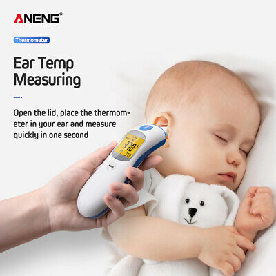 IR Infrared Ear Forehead Body Thermometer Detector Digital Display For Baby Kid