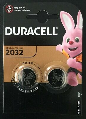 Duracell CR2032 3v LITHIUM Coin Cell Batteries (pack of 2) DL2032 BR2032