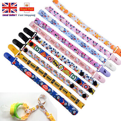 Beautiful Dummy Clip Baby Soother Clips Chain Holder Pacifier Strap UK SELLER