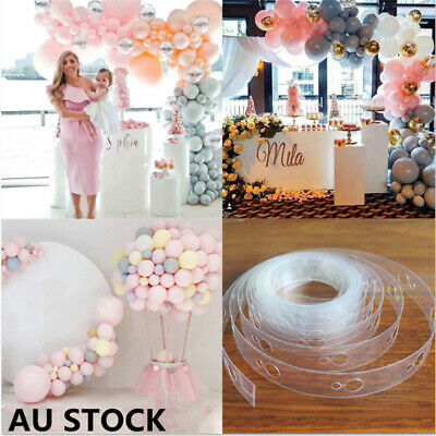 2/5Pcs 5M Balloon Decorate Strip Arch Garland Connect Chain DIY Tape Party Decor